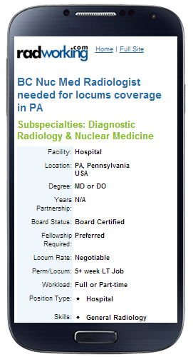 Radiology Jobs & Rad Tech Jobs from RadWorking.com